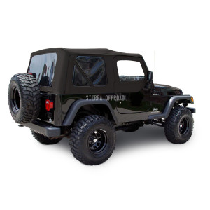 Black Sailcloth 2003-2006 Wrangler TJ with Upper Door Skins and Tinted Windows